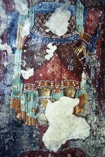 Une fresque dans l'église de la Panagia, Platanias