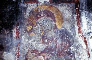 Fresko in der Agios Georgios-Kirche, Vori