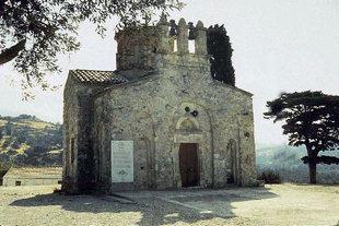 The Byzantine cruciform church of the Panagia in Lambini