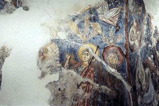 Une fresque dans l'église d'Agios Georgios, Vathiako