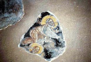 Μια τοιχογραφία στην εκκλησία του Αγίου Ιωάννη στον Κισσό