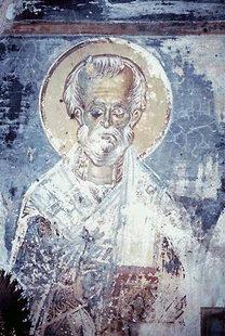 A fresco in the Panagia Church, Kissos