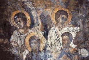 A fresco in the church of the Panagia, Agia Paraskevi