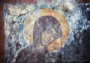 Une fresque dans l'église d'Agios Ioannis dans l'église d'Agios Ioannis