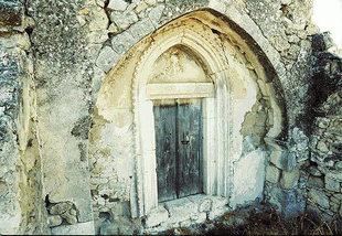 Das Portal der byzantinischen Panagia-Kirche in Monohoro