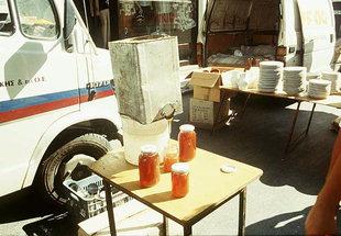Miele in vendita al mercato di Mires