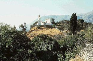 The Byzantine church of Agios Nikolaos above the village of Vizari