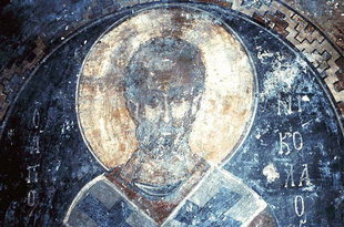 A fresco in the church of Agios Nikolaos, Vizari