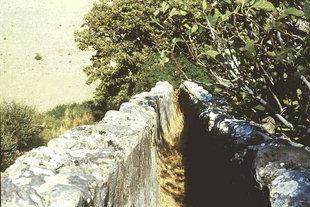 I resti di un vecchio mulino e di un acquedotto a Vizari