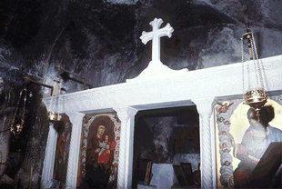 Inside the Byzantine church of Agios Nikolaos, Vizari