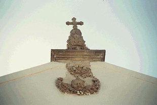 A decoration above the portal of Apezanon Monastery