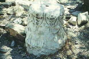The basilica remains near Agios Ioannis Theologos Church, Lendas