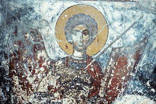 Μια τοιχογραφία στην εκκλησία του Αγίου Ιωάννη στον Άγιο Ιωάννη στο Αμάρι