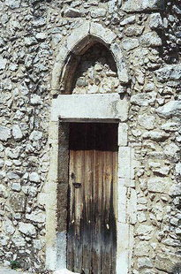 Das Portal der Sotiras Christos-Kirche in Akoumia