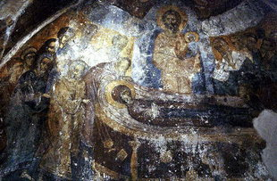 The Dormition of the Virgin in the Panagia Church in Agia Paraskevi