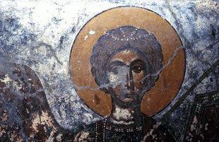 Μια τοιχογραφία στην εκκλησία του Αγίου Ιωάννη στον Άγιο Ιωάννη