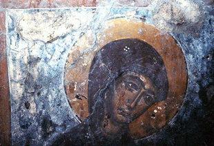 Un affresco della chiesa di Agios Ioannis ad Agios Ioannis