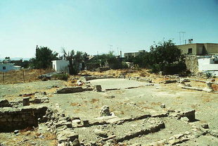 The remains of the three-conch church in Mitropolis