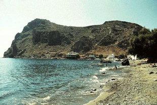 Lendas beach and the lion-shaped peninsula