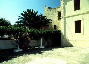 The courtyard in the Apezanon Monastery