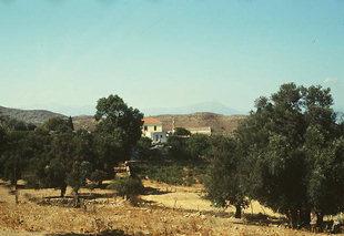 The Apezanon Monastery in the Asterousia Mountains of Crete