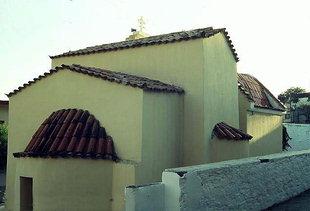 L'église Byzantine restaurée des Agii Apostoli à Ano Moulia