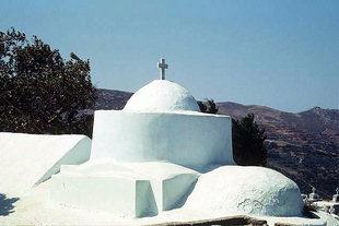 The Byzantine church of Agii Polikarpos, Charalambos and Nikolaos in Lousakies