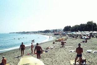 The pleasant Platanias beach near Chania