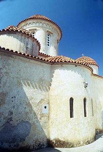 The Panagia Odigitria Church and the Turkish canon ball, Moni Gonia