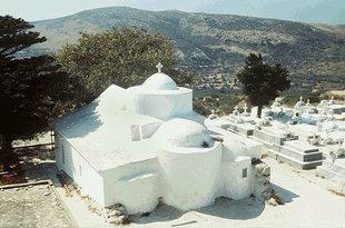 The Byzantine church of Agii Polikarpos,  Charalambos and Nikolaos Church in Lousakies