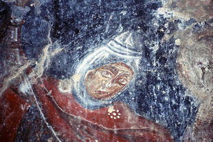 A fresco in the Byzantine church of Agios Nikolaos in Mouri