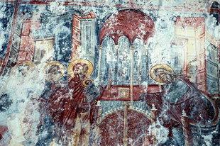 A fresco in Agios Ioannis Church in Kissos