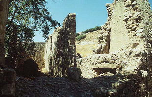 The old buildings of the Agio Pnevma Monastery in Kissos