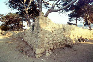 The entrance to the sloping water cistern on Agios Ilias Bastion, Fortezza, Rethimnon
