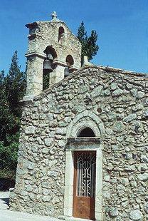 Le clocher de l'église Byzantine d'Agios Nikolaos à Elenes