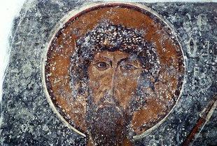 Une fresque de l'église d'Agios Nikolaos à Elenes