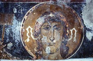 Une fresque dans l'église d'Agios Nikolaos à Elenes