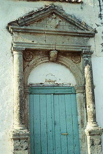 The Venetian portal of the 16C treasury building in Amnatos