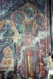 A fresco in Agia Triada and Agios Nikolaos in Agia Triada