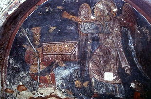 A fresco in Agios Ioannis Church in Prodromos, Deliana