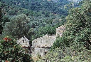 The 12C church of Agios Ioannis Theologos Church in  Gerakari