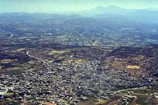La ville d'Arhanes vue du Mont Youktas