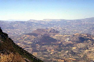 Kanli Kastelli viewed from Mount Youktas