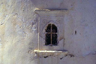 Une fenêtre de l'église de la Panagia à Arhanes