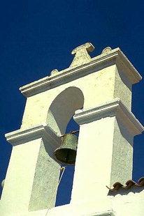 Le clocher de l'église de Sotiras à Alagni