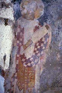 A fresco in the Panagia Kera Church, Sarhos