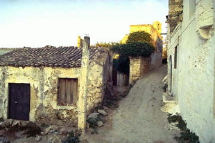 Traditional architecture in the village of Maroulas