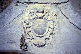 Les armes des Quirini sur une fontaine Vénitienne