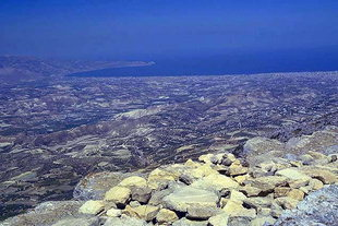 The Minoan sanctuary on top of Mount Youktas