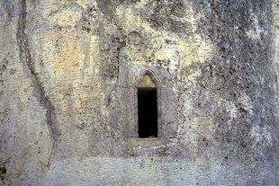 A window in Michael Archangelos Church in Episkopi